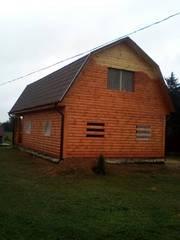 Сруб Дома из бруса 9х7 Владимир с установкой в Кобрине и районе
