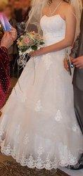Продам искрящееся белое свадебное платье
